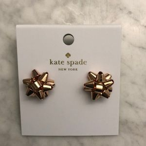 NWT Kate Spade Bourgeois Bow stud earrings